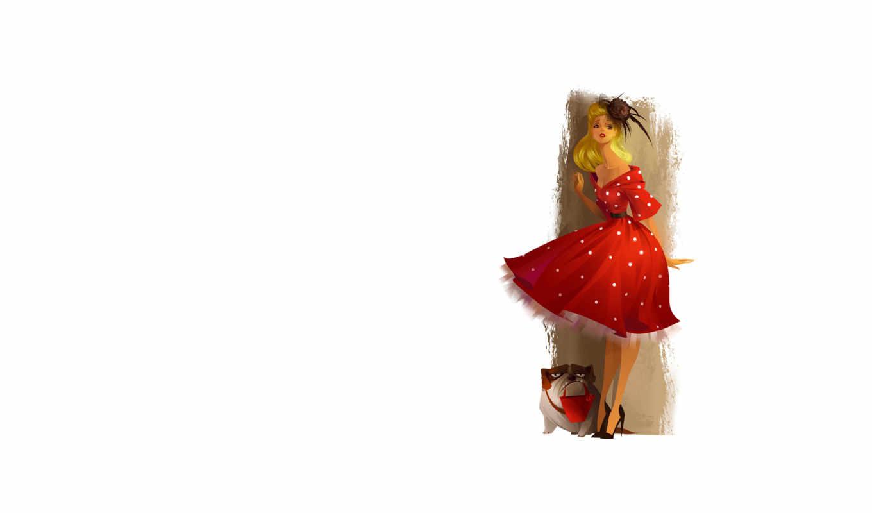 платье, прическа, элегантность, девушка, шляпка, картинка,