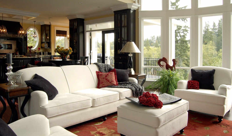 квартиры, дизайн, интерьера, стиль, американский, интерьер,