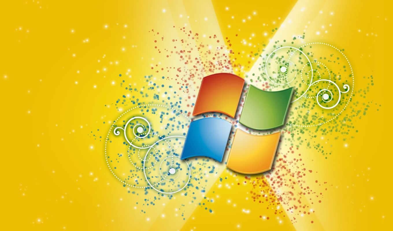 windows, картинка, узоры, yellow,