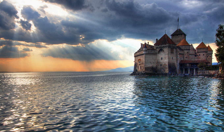 замок, fact, abandoned, со, швейцарии, германия,