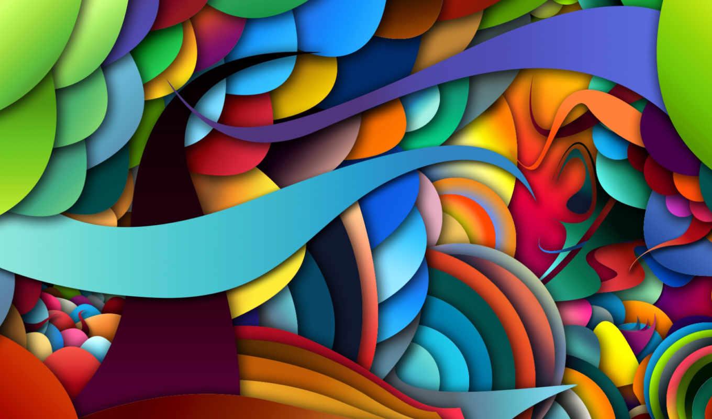 цвет, линии, свет, краски, объем,