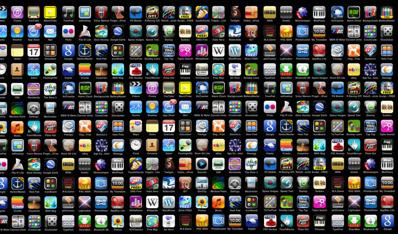 приложение, ecran, fonds, une, приложения,
