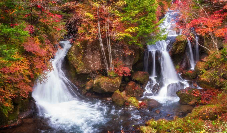 falls, водопад, ryuzu, images, stock, photos, getty, осень, pictures, река,