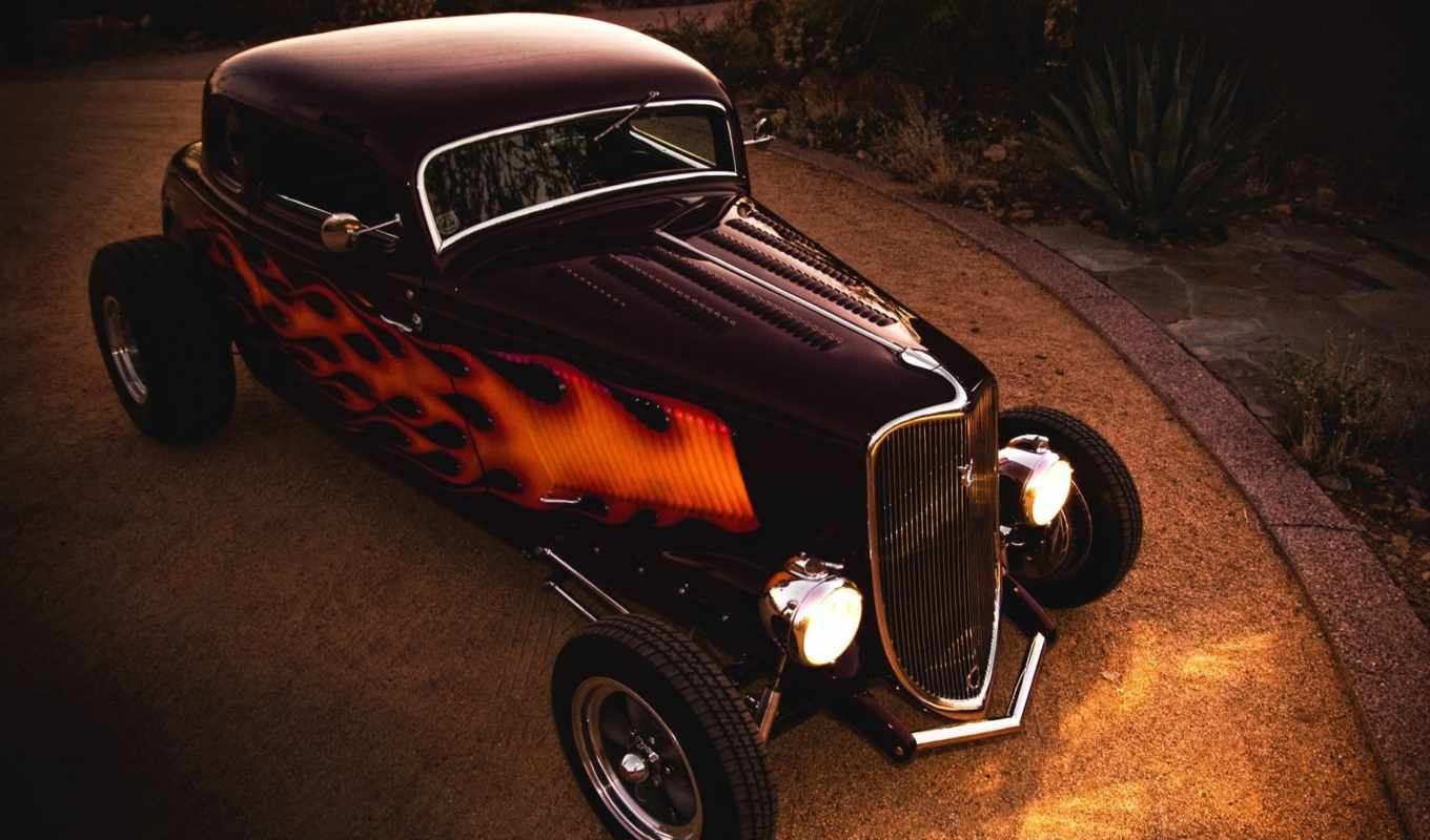 ford, coupe, rod, hot, автомобили, dragster, hotrod,