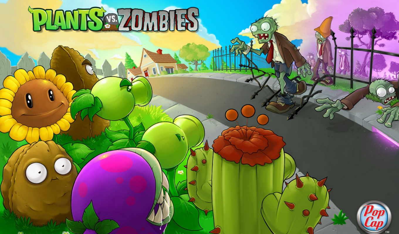 zombies, plants, game, зомби,