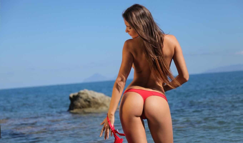 , девушек, devushki, красивые, juliette, стринги, пляже, с заду,