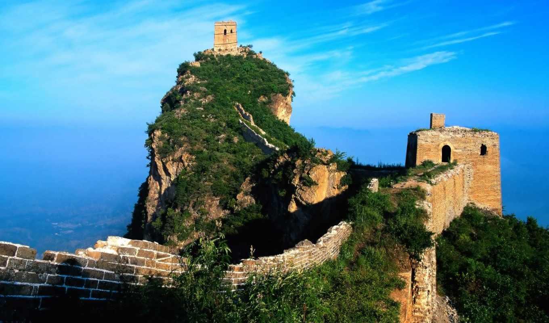 великая, китайская, стена, китайской, великой, китая,