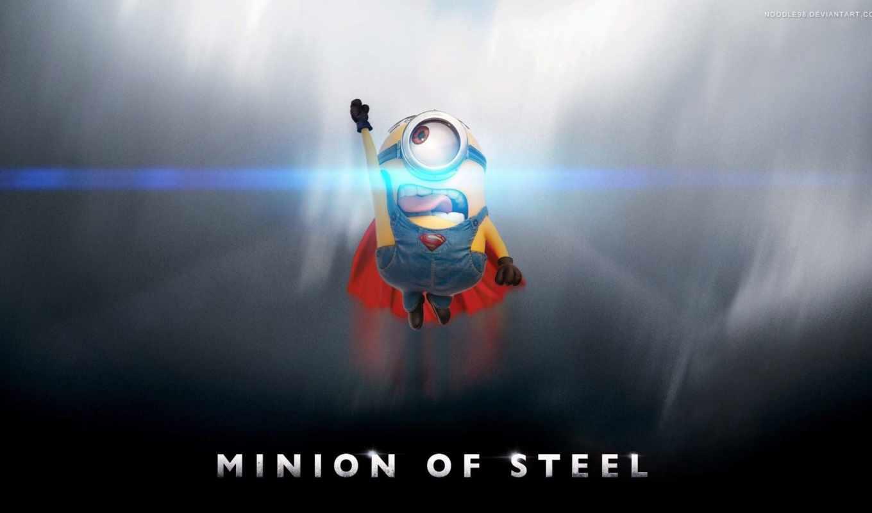 minions, superman, миньон, desktop, available, mobile, resolutions, phones,
