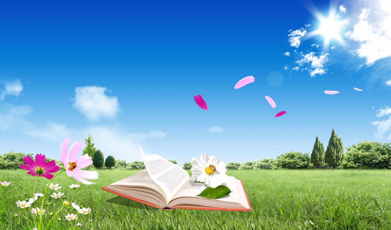 книга, цветы, красивые, книжка, prezentacii,