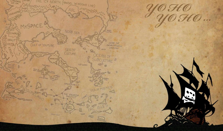 карта, pirate, корабль, пиратская, desktop, море, силует,