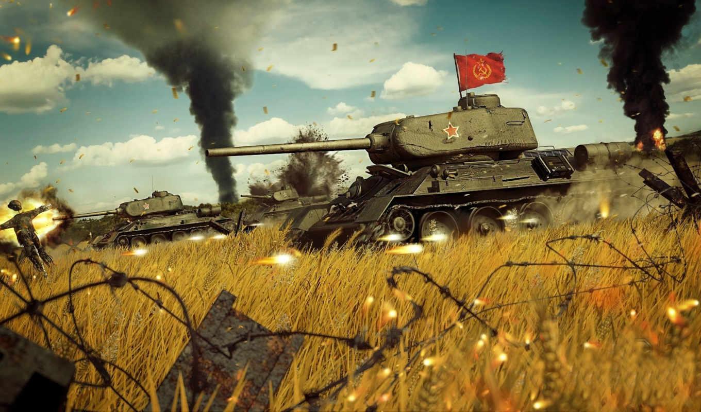 soviet, средний, танк, рисованные, war, tanks, картинка, art, Т-34-85, т-34,