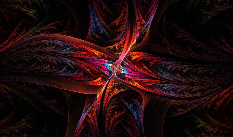 фрактал абстракция красная  № 3675099 бесплатно