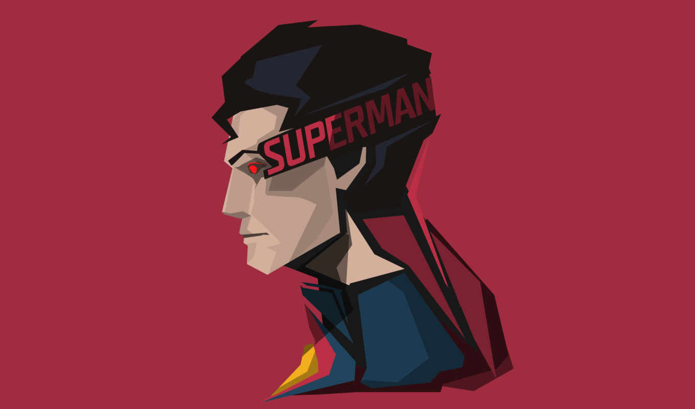 , red, superman, profile view