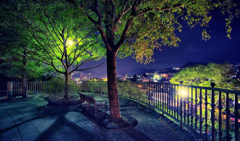 ночь, new, ночью, парк, обои, работы, все, фотогра