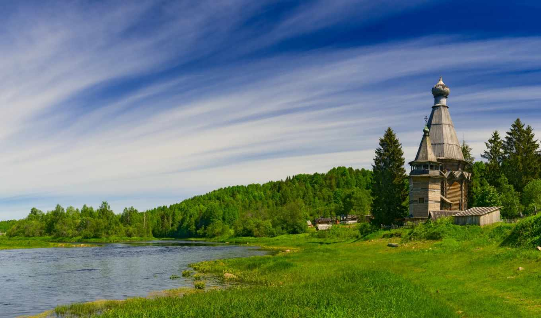 wallpaper, hd, landscapes, русское, nature, деревянный, храм, wallpapers, берегу, якутии, природа, desktop, topuzz, древне, реки, зодчество,