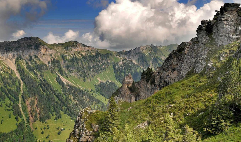 дек, вид, горы, природа, нов, верху, телефон, категории,