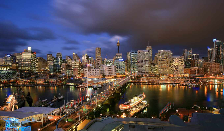 sydney, darling, гавань, австралия, города,