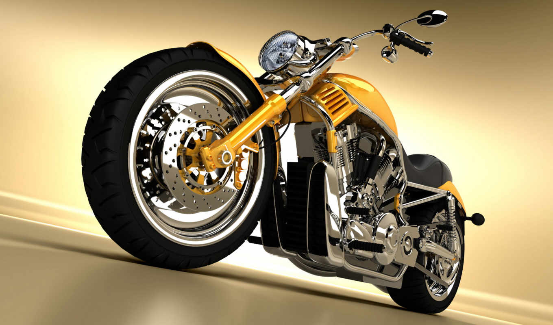 harley, davidson, bike, мотоцикл, yellow, free, bikes,