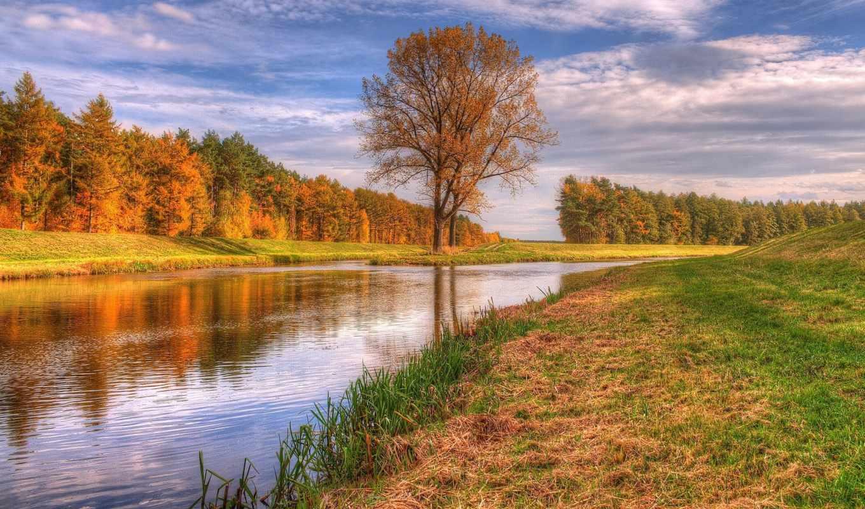 duvar, kağıtları, görüntüleri, nehir, sonbahar, manzara, fotoğrafları, arka, masaüstü, ağaçlar,