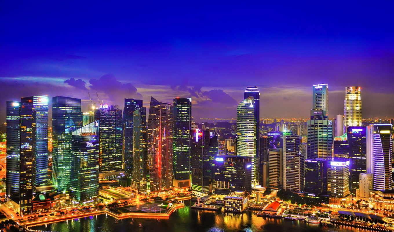 singapore, июня, городов, город, ночь, мира, desktopwallpape, картинок, коллекция,