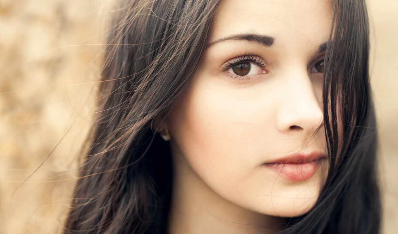 свет, взгляд, девушка, карие, красивая, картинка, лицо,