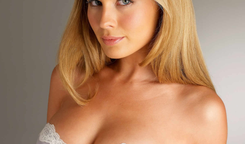 blonde, взгляд, грудь, картинка,