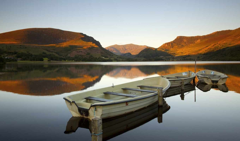 park, national, snowdonia, озеро, лодка, корабль, фото, яхта, спокойствие