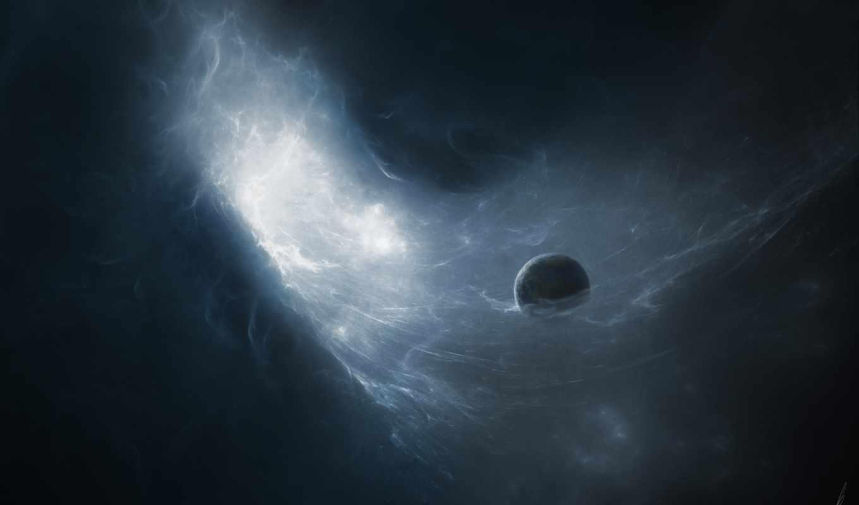 планета, межзвездный, газ, пространство, смотрите,