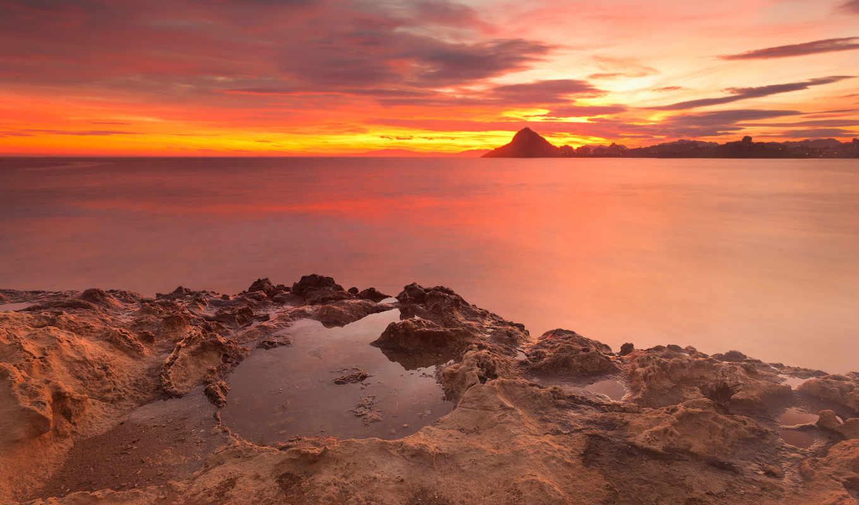 испания, aguilas, море, небо, мурсия, средиземное, скалы, красное, antonio,