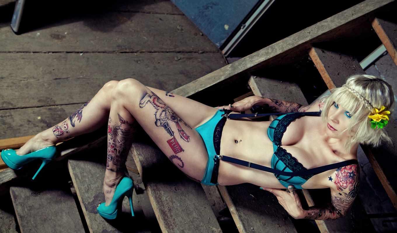 песчаный, peng, татуировка, модель, das, ан,