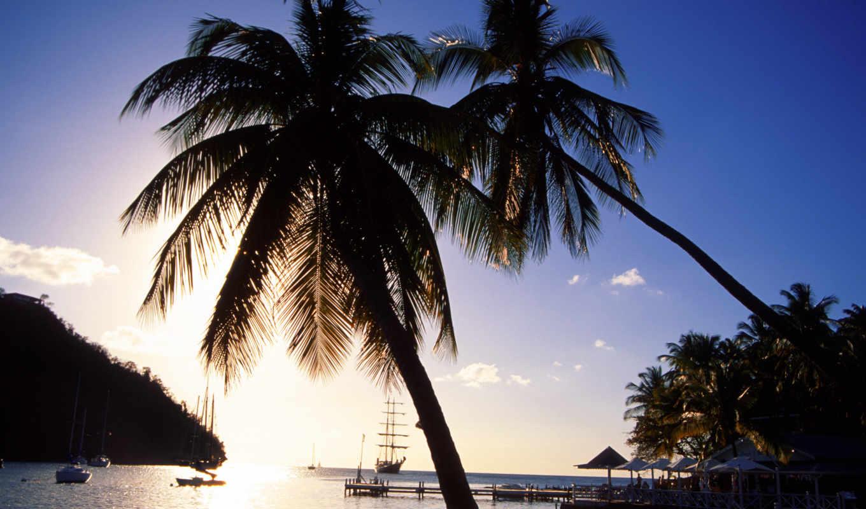 клипарт, карибские, острова, caribbean, море, jpeg, город, landscape,