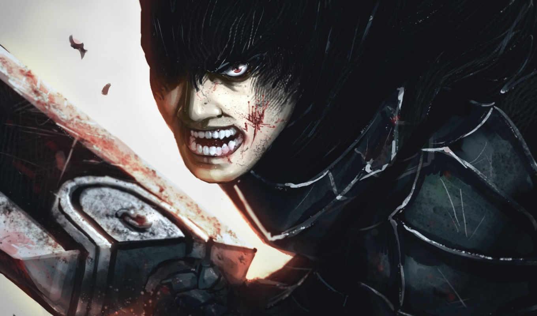 фантастика, ярость, мужчина, кровь, меч,