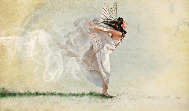 крылья, платье, девушка, desktop, abstract, download, spring, coming,