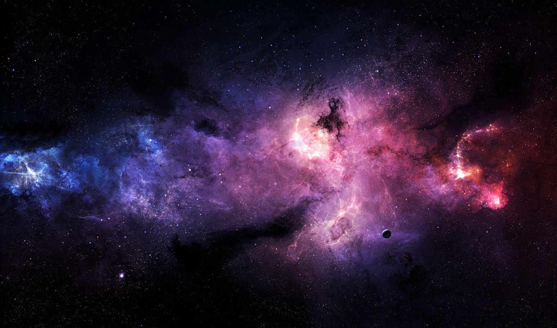 туманность, звезды, планета, veselinov, stefan, atonement, pyres, galaxy, stars, space,