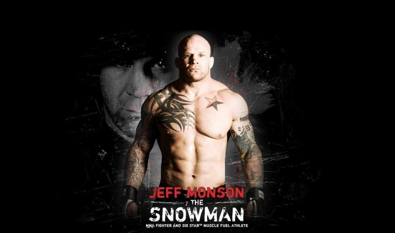джефф, монсон, боец, snowman, mma, мускулы, татуировки, бои, без, легенда,