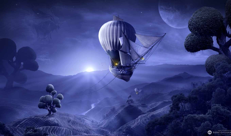fantasy, корабли, корабль, коллекция, лучшая, летающие, шарах, со, необычными, воздушных,