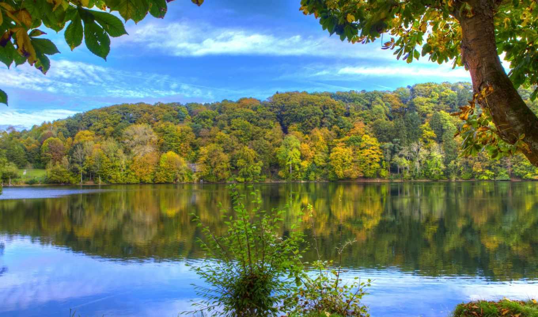 reki, озеро, landscape, картинка, природа, german, słońca, tapety, wschód, rzeka, небо,