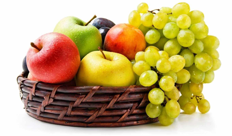фрукты, корзина, фруктами, доставкой, подарочная,