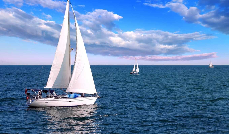фотообои, лодка, sailboat