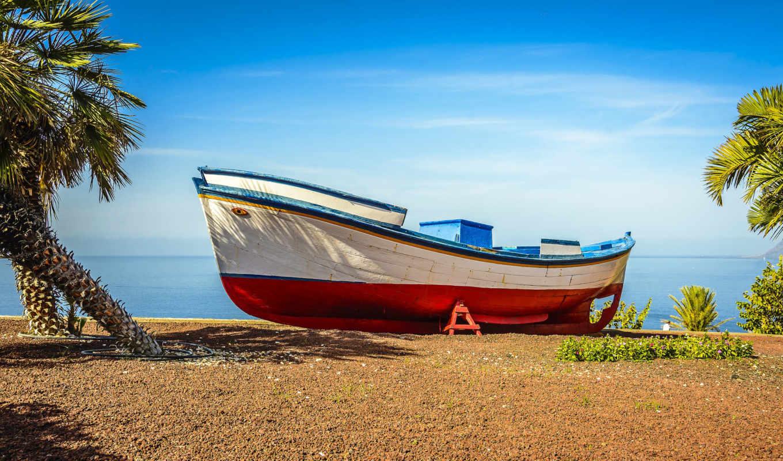 пляж, лодка, мб, desktop,