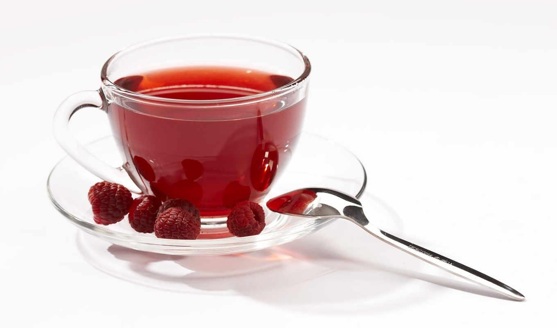 чая, малиновый, малины, ромашкой, медом, листьев, гр, ложки,