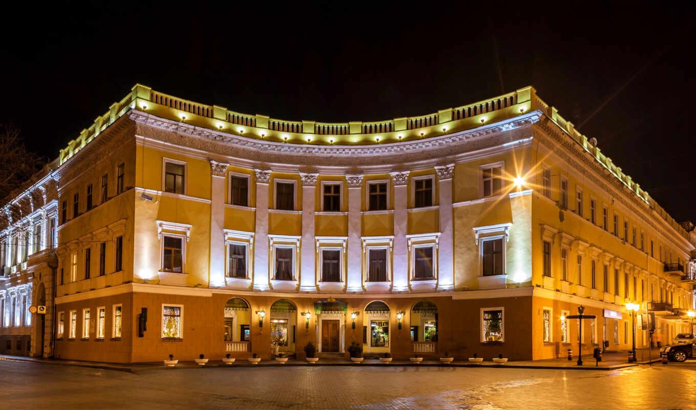 ukraine, одесса, ночь, город, building