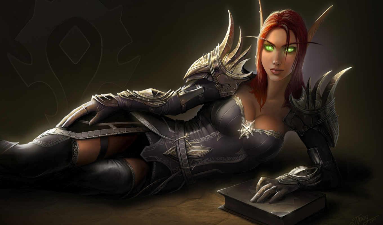 warcraft, world, art, games, wow, fantasy, elf, blood, video, armor, fan, нэара, игры, blizzard,