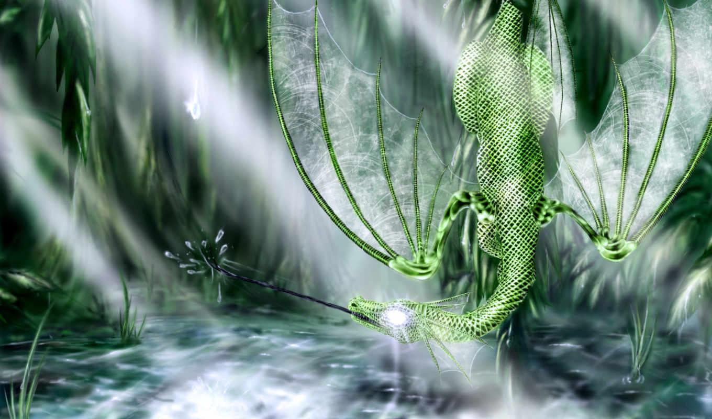 дракон, зелений, болото, duvar, драконы,