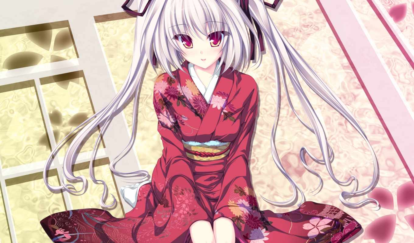 kimono, anime, clothes, whirlpool, hair, tenmaso, submitted, smile, twintails, japanese,
