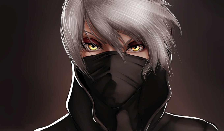 anime, boy, маска