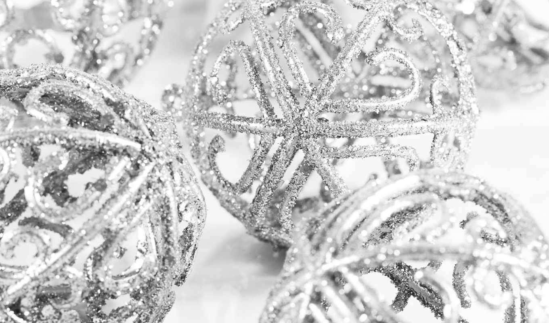 игрушки, год, новый, праздники, серебристые, елочные, christmas, смотрите, похожие, шары, красивые, новогодние, темы,