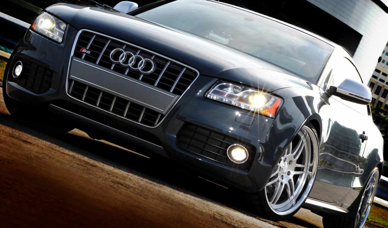 машина, ауди, черный ауди, диски, спорткар,
