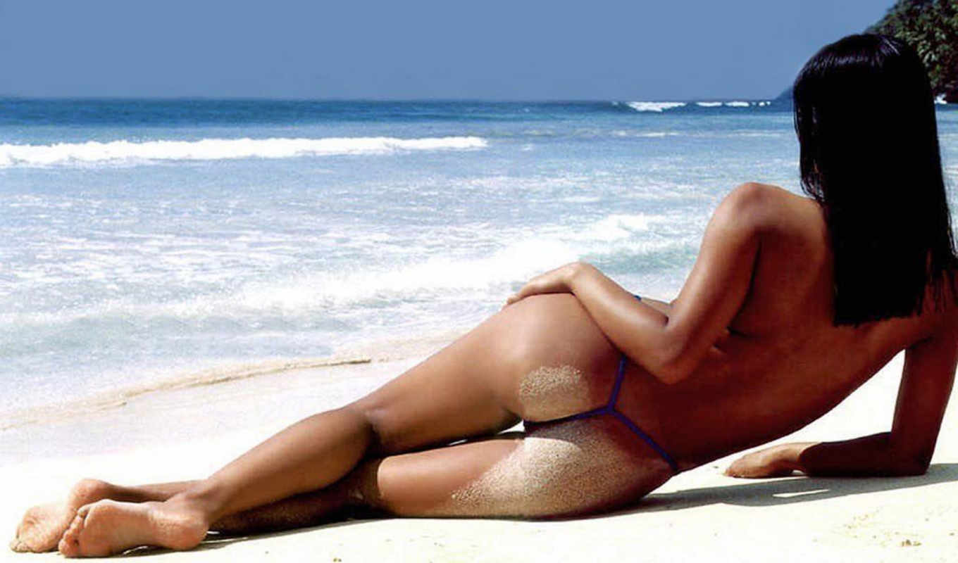 Hot blond chicks gets banged hard on the white sand of a tropical island beach № 773612 загрузить