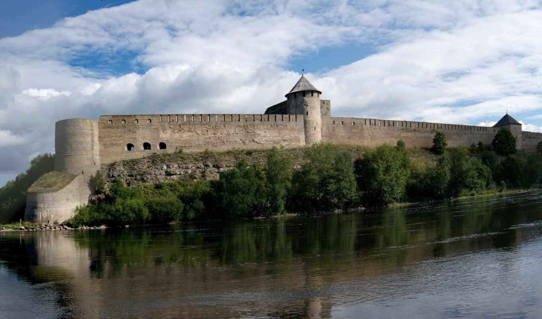 fortress, река, castle